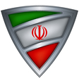 steel shield with flag iran vector image vector image
