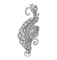 hand drawn monochrome ornament for desing vector image