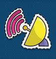 antenna signal design vector image
