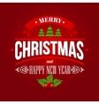Christmas labels emblems decorative elements vector image