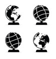 globe set in black and white color vector image