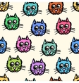 Seamless pattern of the cats vector image