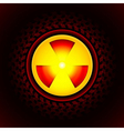sign of radiation vector image