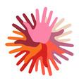 Warm Hand Print icon vector image