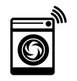 washing machine icon simple black style vector image
