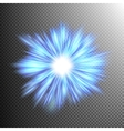 Neon blue light rays EPS 10 vector image vector image