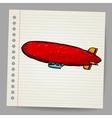 Dirigible Doodle style vector image vector image