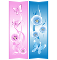 Two decorative cards vector image
