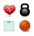 Sport And Fitness Icon Set vector image vector image