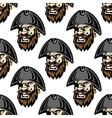 Cartoon pirate seamless pattern background vector image