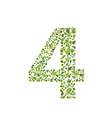 Spring green leaves eco number 4 vector image