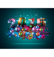 2015 Christmas Colorful Background with a vector image vector image