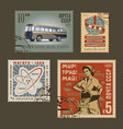 Postage stamps 1 vector image
