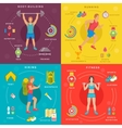 Sport and Fitness Infographic Banners vector image