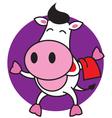 Bartender Cow vector image