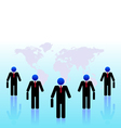 Business people world black vector image