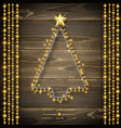 christmas tree made of christmas lights glowing vector image