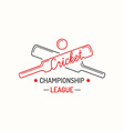 Concept logo cricket vector image