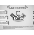COULD COMPUTING WEBSITE vector image