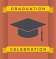 Flat Design Graduation Celebration vector image