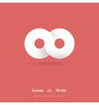Infinity Symbol Wedding Invitation vector image