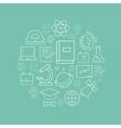 linear logo design template - online vector image
