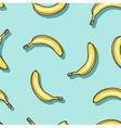 Pattern of bananas vector image
