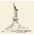 Statue of Liberty hand drawn vector image