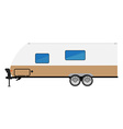 Trailer camper icon vector image