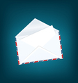 White open envelope with paper card vector image