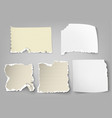 set of tear-off paper with ragged edges vector image