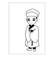 Men wear hats cartoon vector image