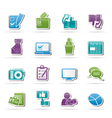 Voting and elections icons vector image