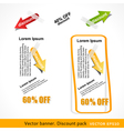 Discount pack vector image vector image
