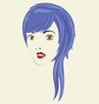 Long Straight Woman HairStyle vector image
