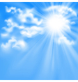 blue sky and sun vector image vector image