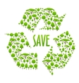 Recycling icon composed of green trees vector image vector image