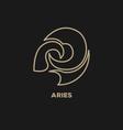 Aries Horoscope Icon vector image