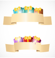 Banners with gift boxes vector image