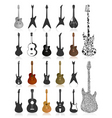 Guitar icons vector image