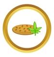 Marijuana seeds icon vector image