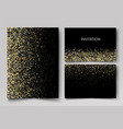 wedding set cards with the abstract golden vector image