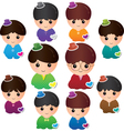 Various Boy characters vector image