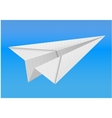 origami paper airplane on white background vector image