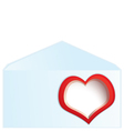 Red heart address space vector image vector image