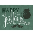 Happy Halloween vintage poster vector image