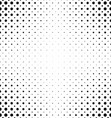 Black white dot pattern background vector image