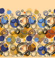 geometric abstract circles background vector image