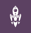 space rocket flying vector image vector image