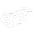 Outline Hungary map vector image